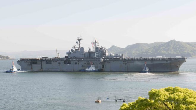 USS Bonhomme Richard Returns To U.S. After 6 Years in Forward Deployed Naval Forces Japan