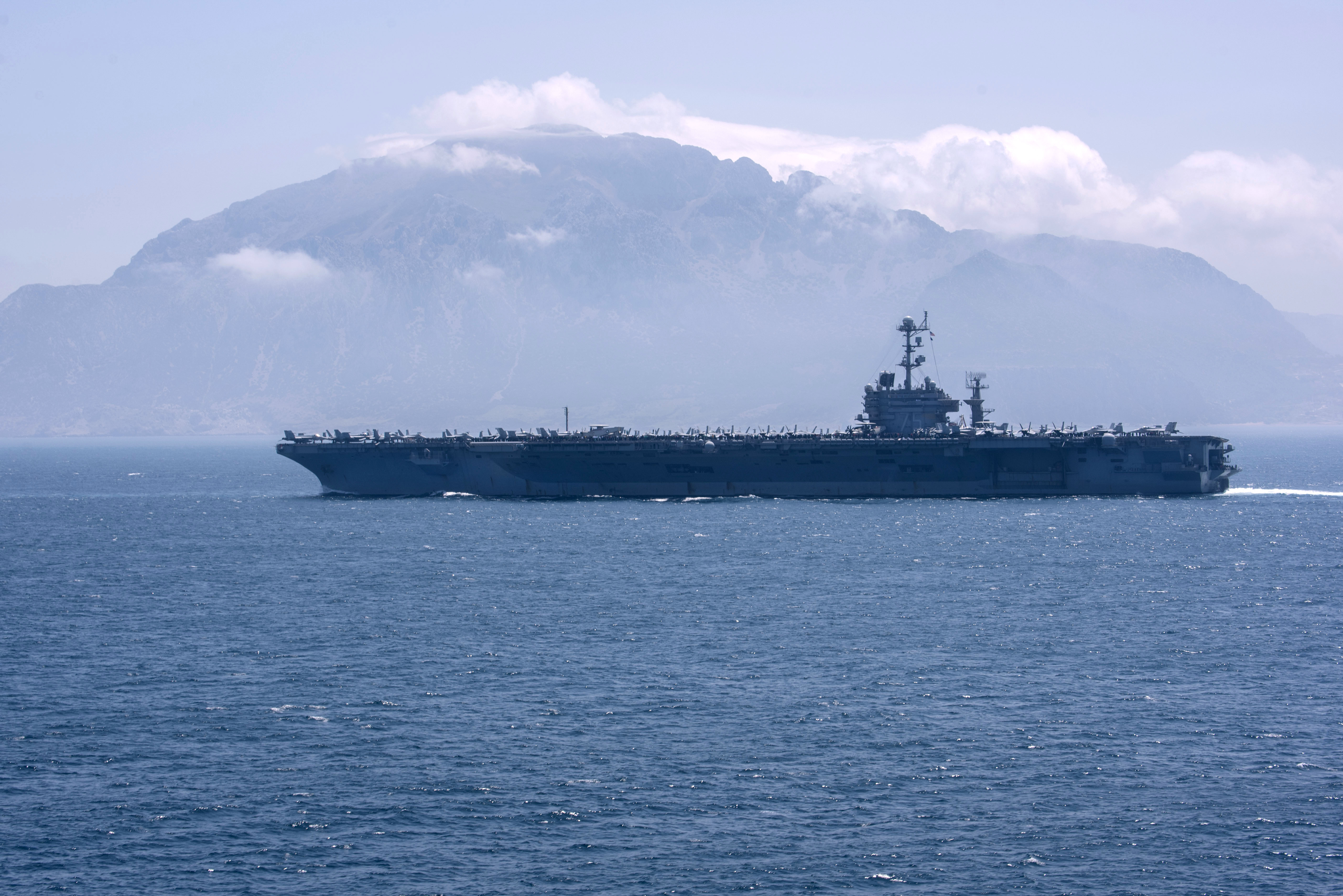 Carrier USS Harry S  Truman Operating in the Atlantic as Russian
