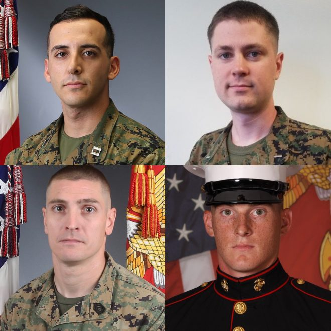 Marine Corps Identifies 4 Aircrew Killed in CH-53E Crash in California