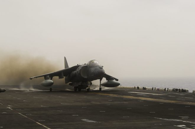 Marine AV-8B Harrier Crashes in Djibouti, Pilot in Stable Condition