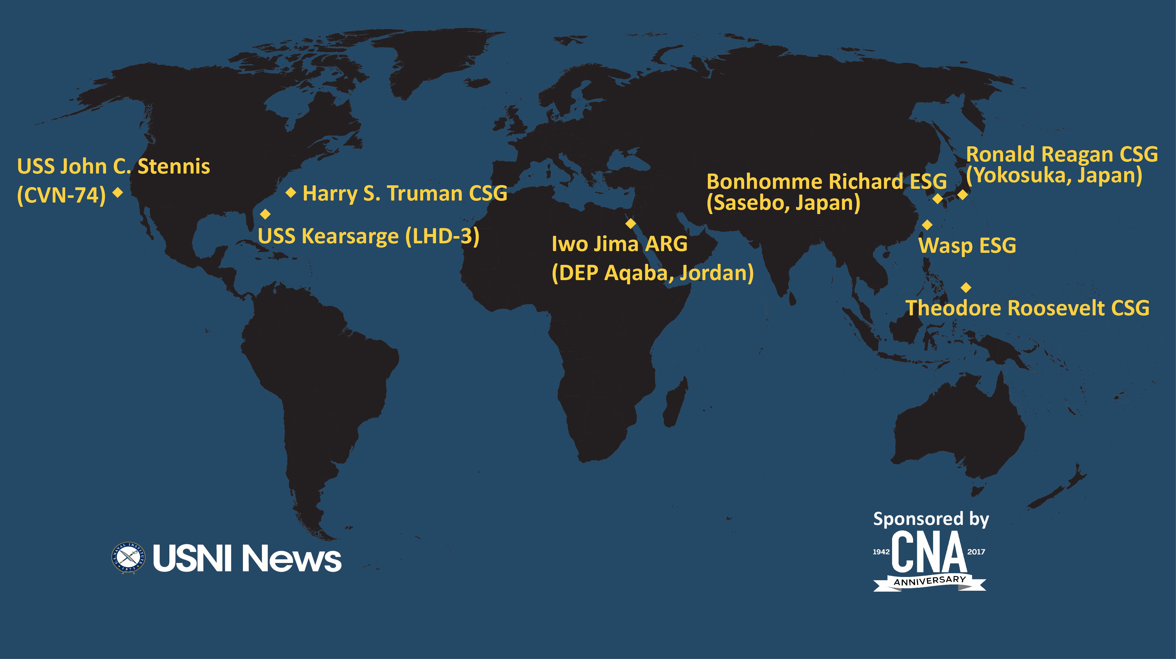 USNI News Fleet and Marine Tracker: April 16, 2018