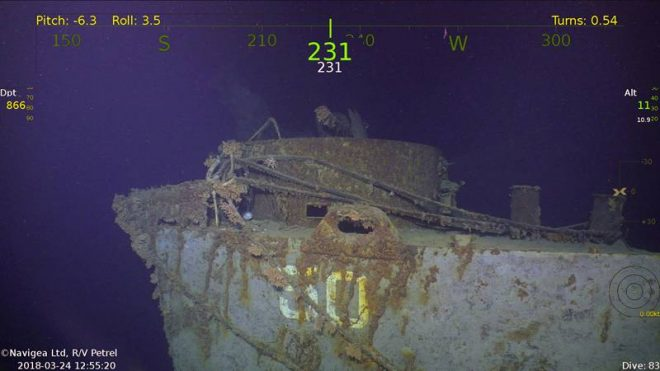 Paul Allen's Team Finds Lost World War II Cruiser USS Helena