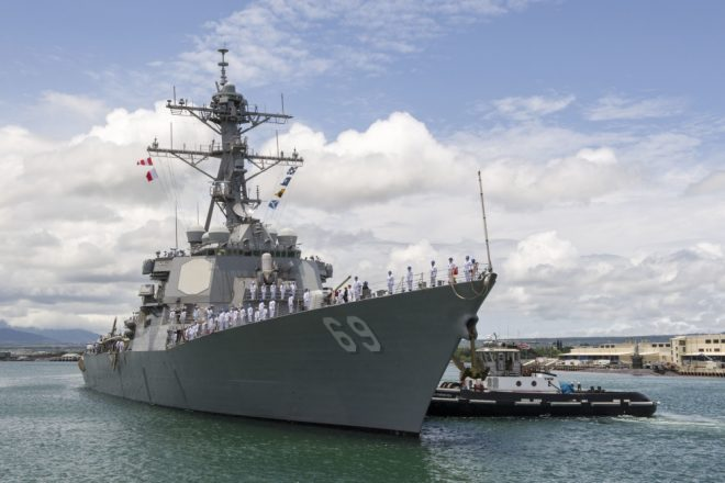 Destroyer USS Milius Joins Forward-Deployed Forces in Japan