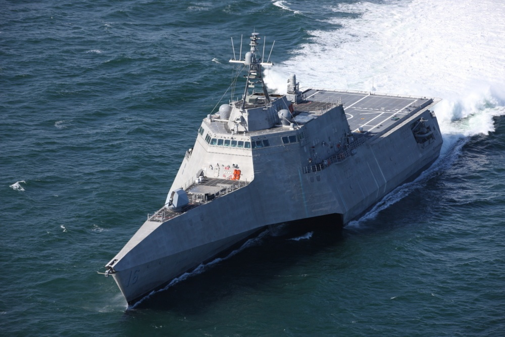 USS Tulsa (LCS-16) during sea trials in March 2018. Navy photo