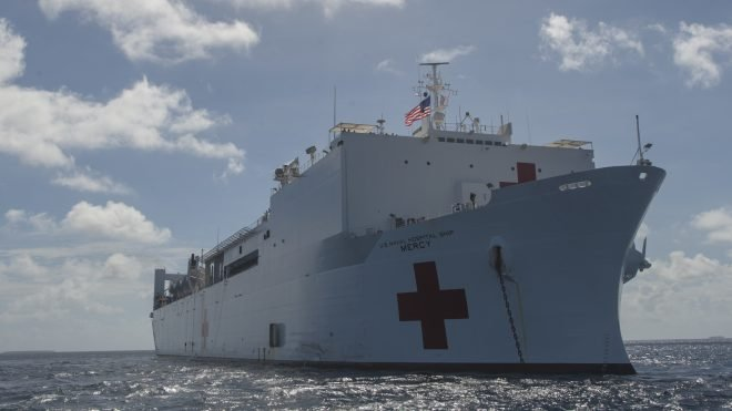 Hospital Ship USNS Mercy Trains for Disaster Relief In Vietnam