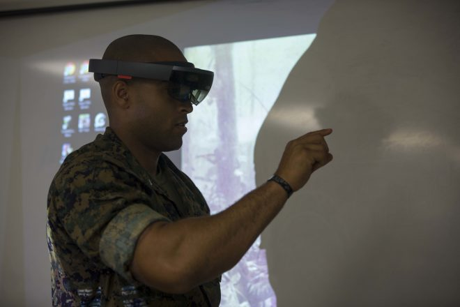 Marines Pursuing Augmented Reality Goggles, Network to Connect Simulators