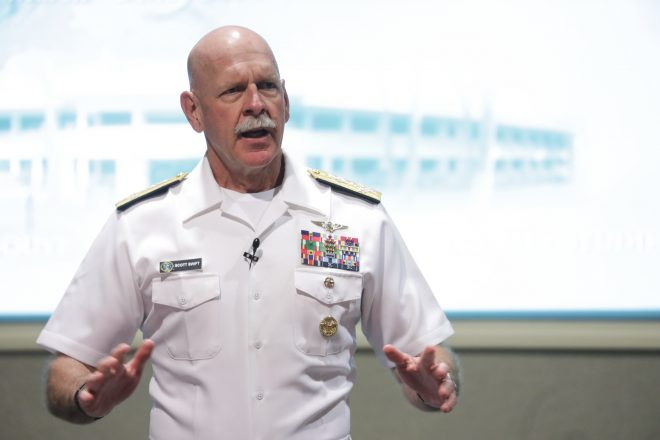 Swift Calls for Navy Readiness Improvements Before Fleet Buildup in PACFLEET Retirement Speech