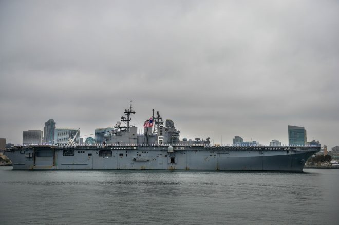 Amphib USS Bonhomme Richard Arrives At New Homeport in San Diego