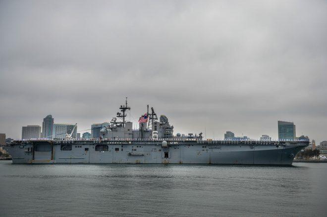 Amphib USS Bonhomme Richard Arrives At New Homeport in San Diego