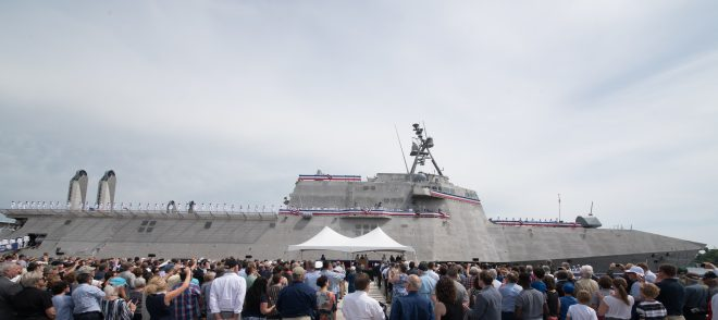 Video: Navy Commissions Littoral Combat Ship USS Manchester