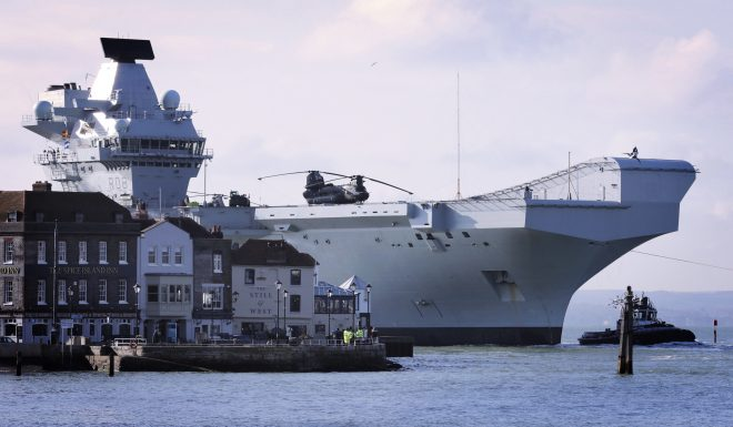 U.K. Carrier HMS Queen Elizabeth Set for U.S. Visit, F-35B Trials