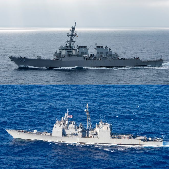 Two U.S. Warships Conduct South China Sea Freedom Of Navigation Operation