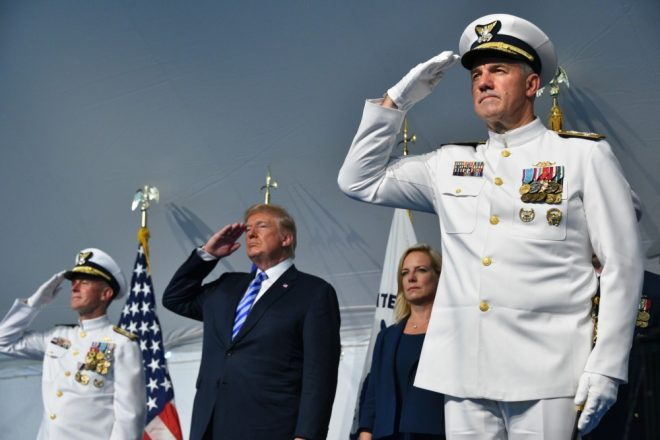 Trump Lauds Coast Guard Leaders During Commandant Change of Command