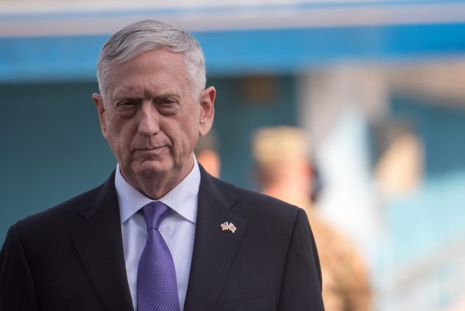 SECDEF Mattis: U.S. Military Not Leaving South Korea Anytime Soon