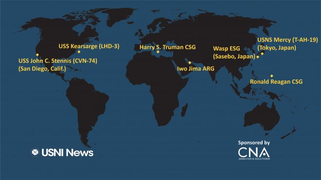 USNI News Fleet and Marine Tracker: June 18, 2018