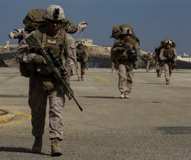 Crisis Response Marines in Middle East Focused on Operations in Syria, Afghanistan