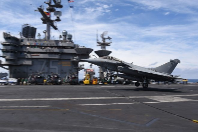 French Naval Aviators Train With Truman Carrier Strike Group