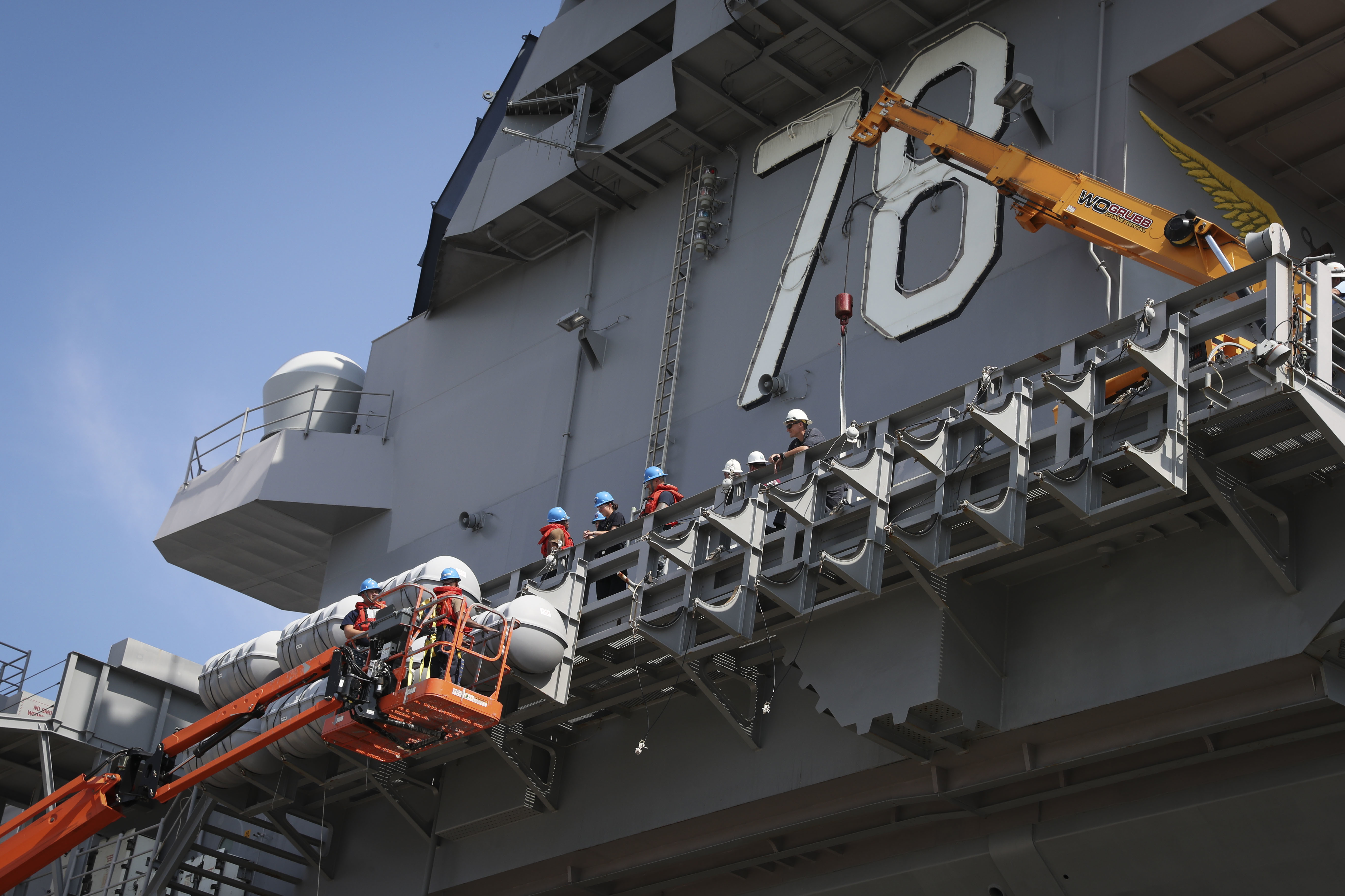 Carrier USS Gerald R. Ford Enters Year Long Post Shakedown Maintenance And  Upgrade Period