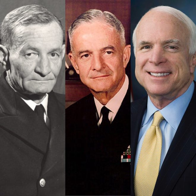 VIDEO: Sen. John McCain Added to Destroyer's Namesake Along with Father, Grandfather
