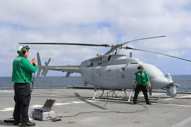 Navy Declares Unmanned MQ-8C Fire Scout Helicopter Mission Capable