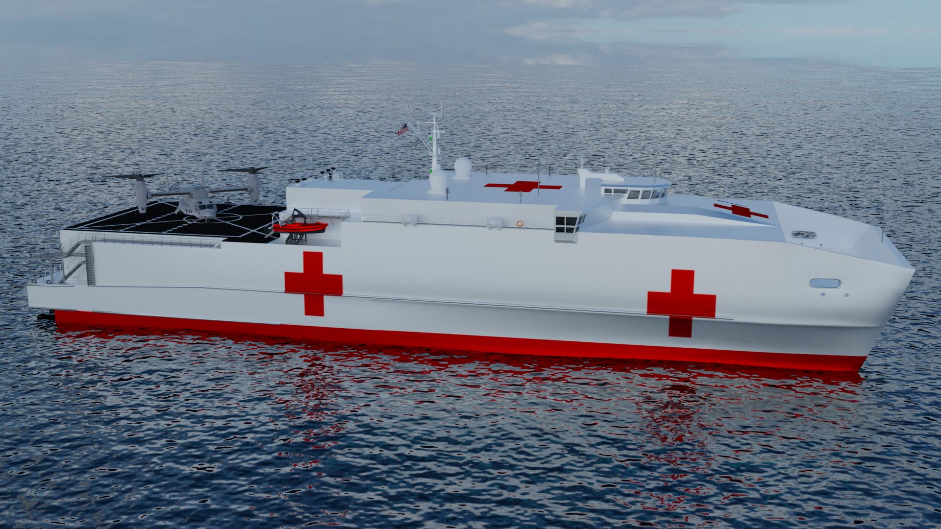 Resultado de la imagen para convertir un T-EPF (Transporte rápido expedicionario) en un Transporte médico expedicionario (EMT)