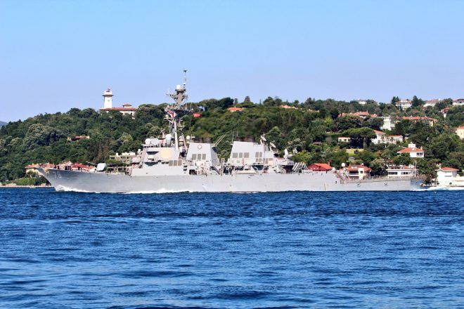 U.S. Navy Command Ship, Destroyer in Black Sea for Annual Sea Breeze Exercise
