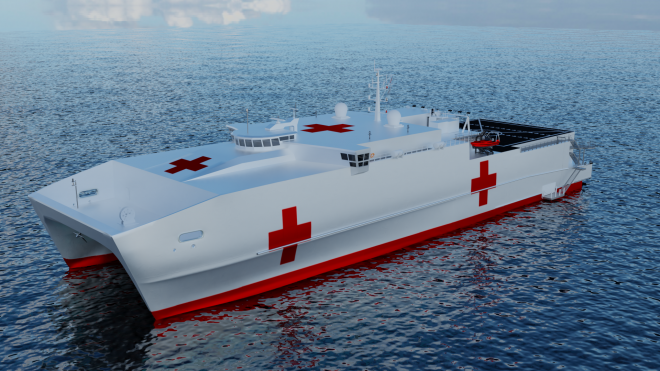 New Details of Austal's EPF Hospital Ship Emerge