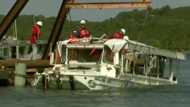 Coast Guard Salvage Team Recovers Duck Boat Involved in Deadly Sinking