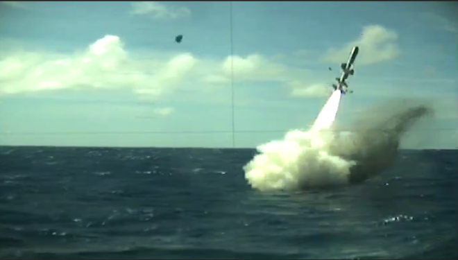 VIDEO: Navy May Bring Back Harpoon Missiles on Attack Subs After Successful SINKEX; RIMPAC Also Highlights Ground-to-Ship Strike Capability