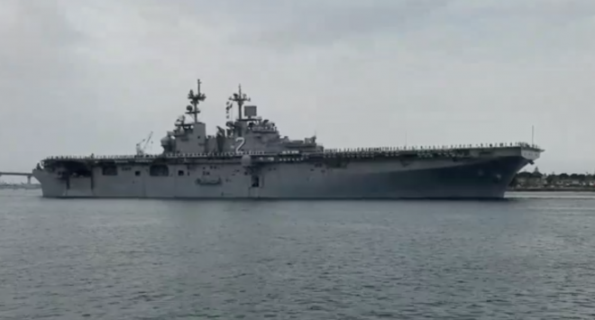 Essex Amphibious Ready Group Quietly Deployed on Tuesday with Marine F-35s