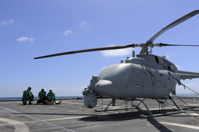 MC-8C Fire Scout Completes IOT&E Event; Pierside Testing to Continue This Summer