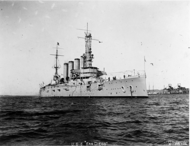 How USS San Diego Sank is Still an Open Question 100 Years Later