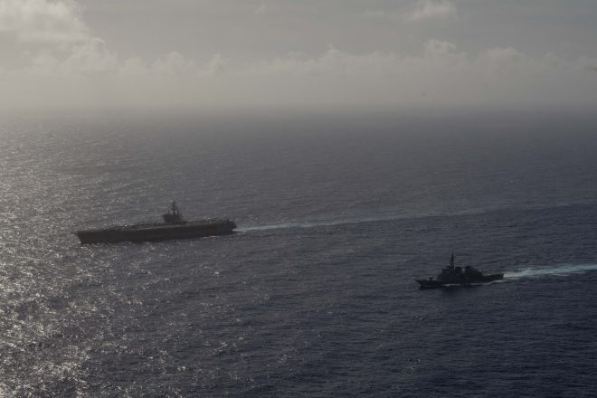 Ronald Reagan Carrier Strike Group Out on Patrol