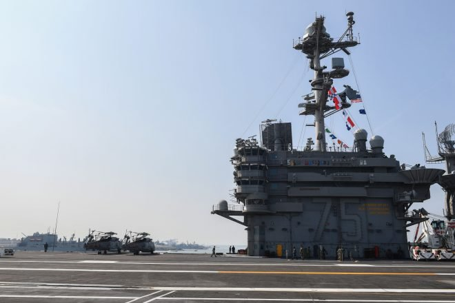 Harry S. Truman Strike Group Back Underway After More Than a Month in Port
