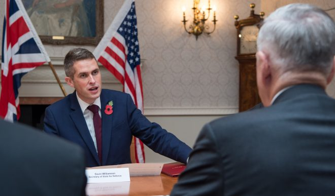 U.K. Defence Secretary: 'Never Underestimate My Nation'