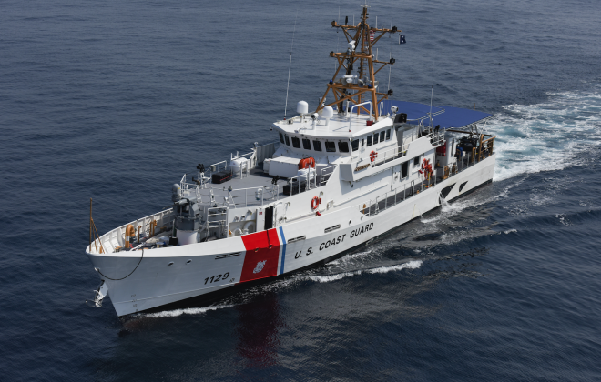 First in a Quartet of New Coast Guard Cutters Arrive in Los Angeles