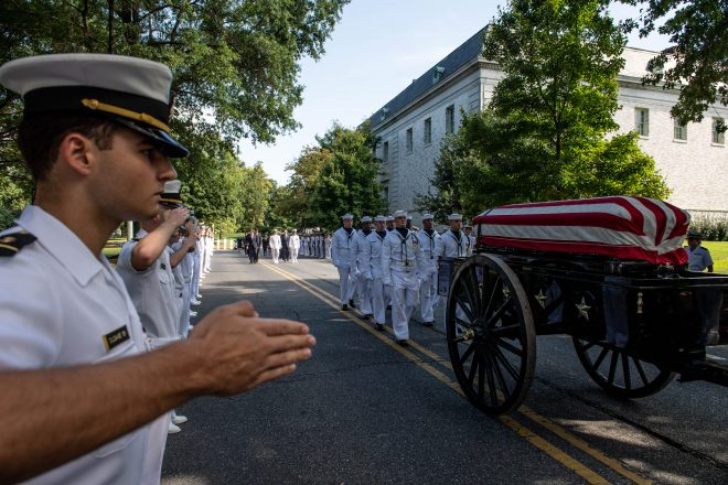 Photo Gallery: John McCain's Funeral in Annapolis