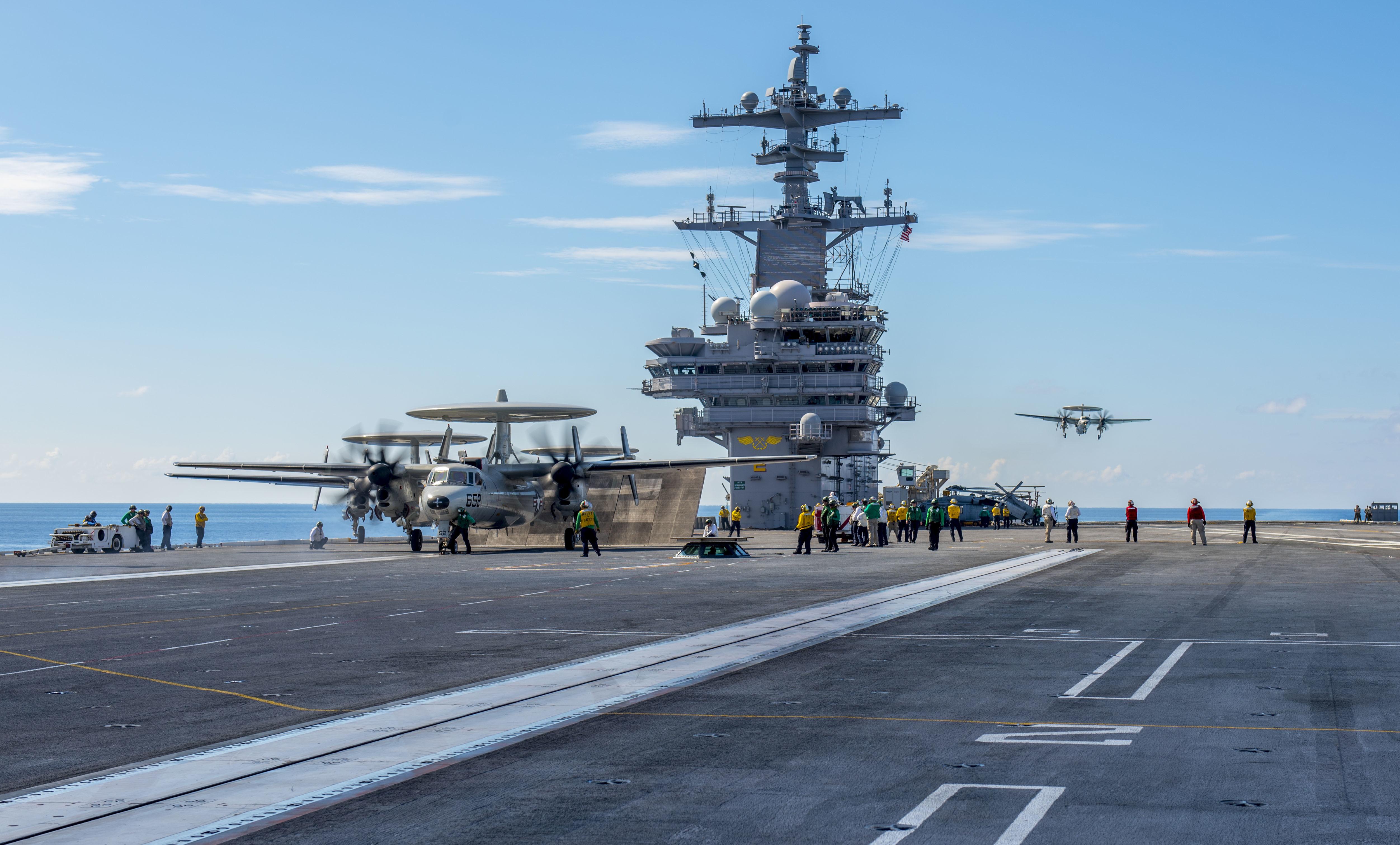 Sailor Killed Aboard Uss George H W Bush In Flight Deck Mishap