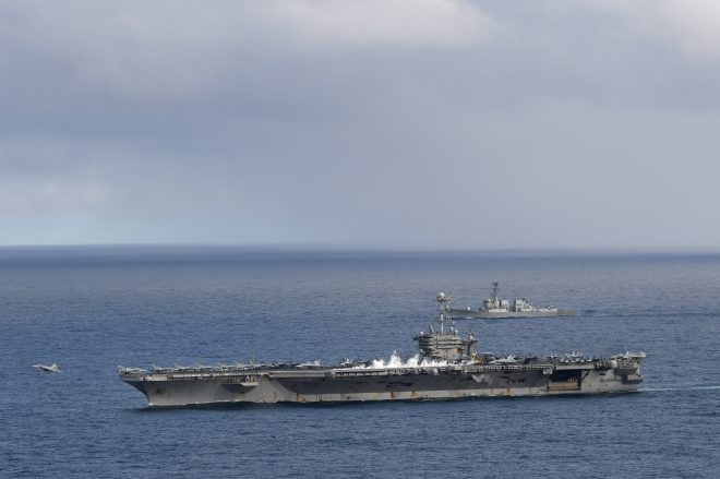 Truman Carrier Strike Group Returns to Europe After Mid-Deployment Visit to Norfolk