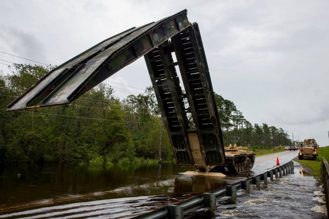 Marines at Camp Lejeune Rescue Nearby Civilians Threatened By Flooding