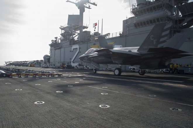 Marines Prepared to Use F-35Bs in Middle East Combat If Needed; No Other Naval Aviation Nearby
