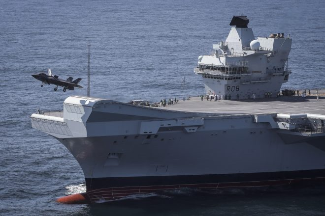First F-35Bs Operate off of HMS Queen Elizabeth as U.K. Works Toward a Native Carrier Strike Group