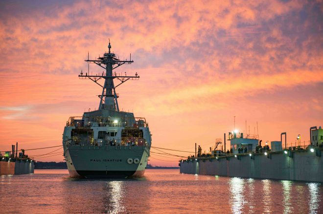Navy Awards Ingalls 6 Destroyers, Bath Iron Works 4 in Multiyear Deal; Ingalls to Build Both 2018 Ships