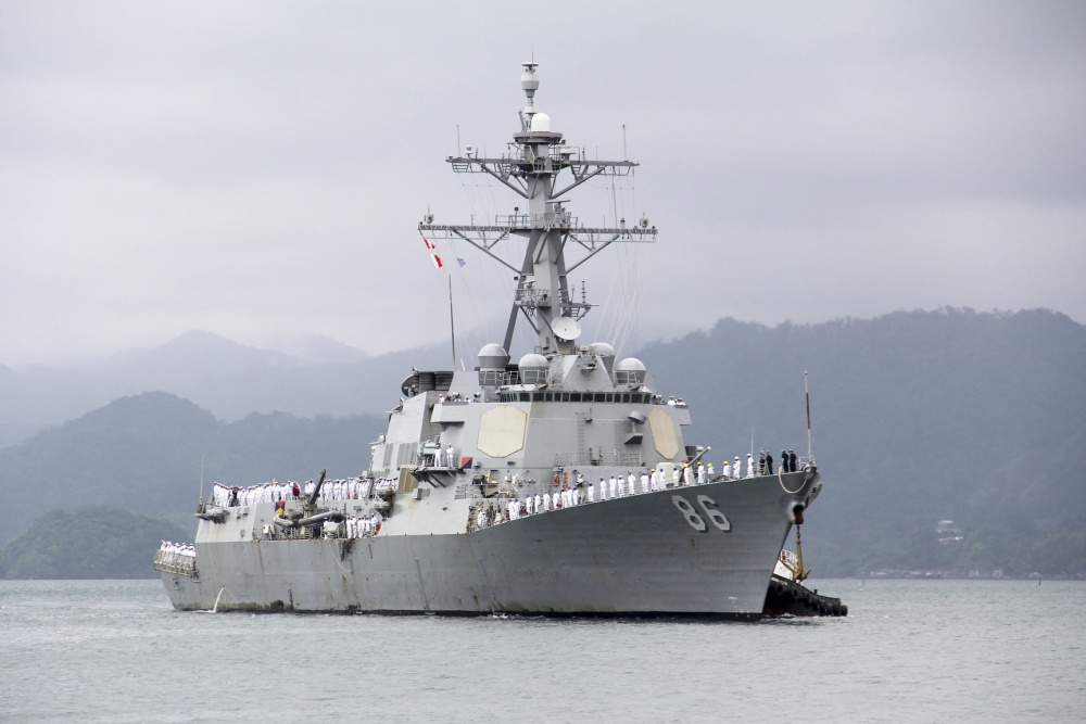 U S  Destroyer, Coast Guard Help Pacific Island Nations