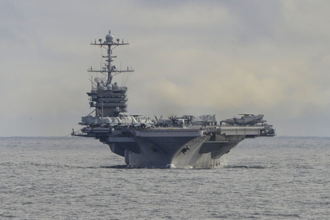 Truman Carrier Strike Group at Sea for Pre-Deployment Exercise