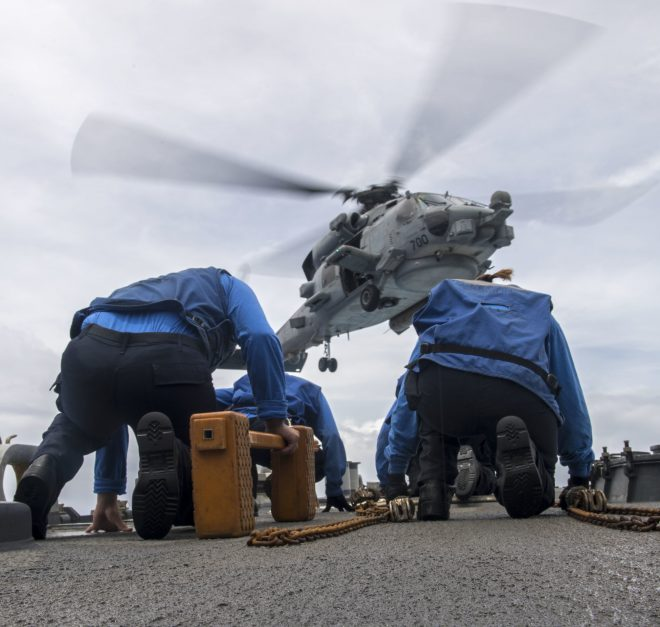 USS Ronald Reagan Resumes Flight Operations After Helicopter Crash; Some Injured Sailors Sent Ashore for Treatment