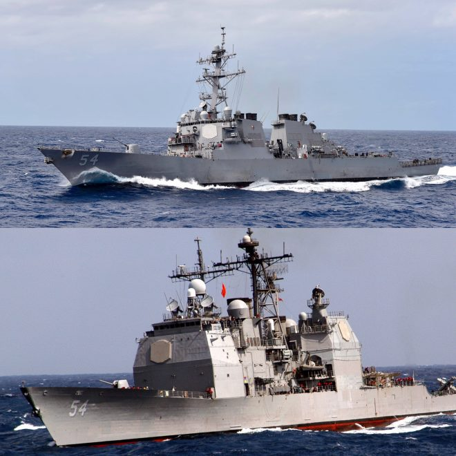 Two U.S. Navy Warships Transit Taiwan Strait