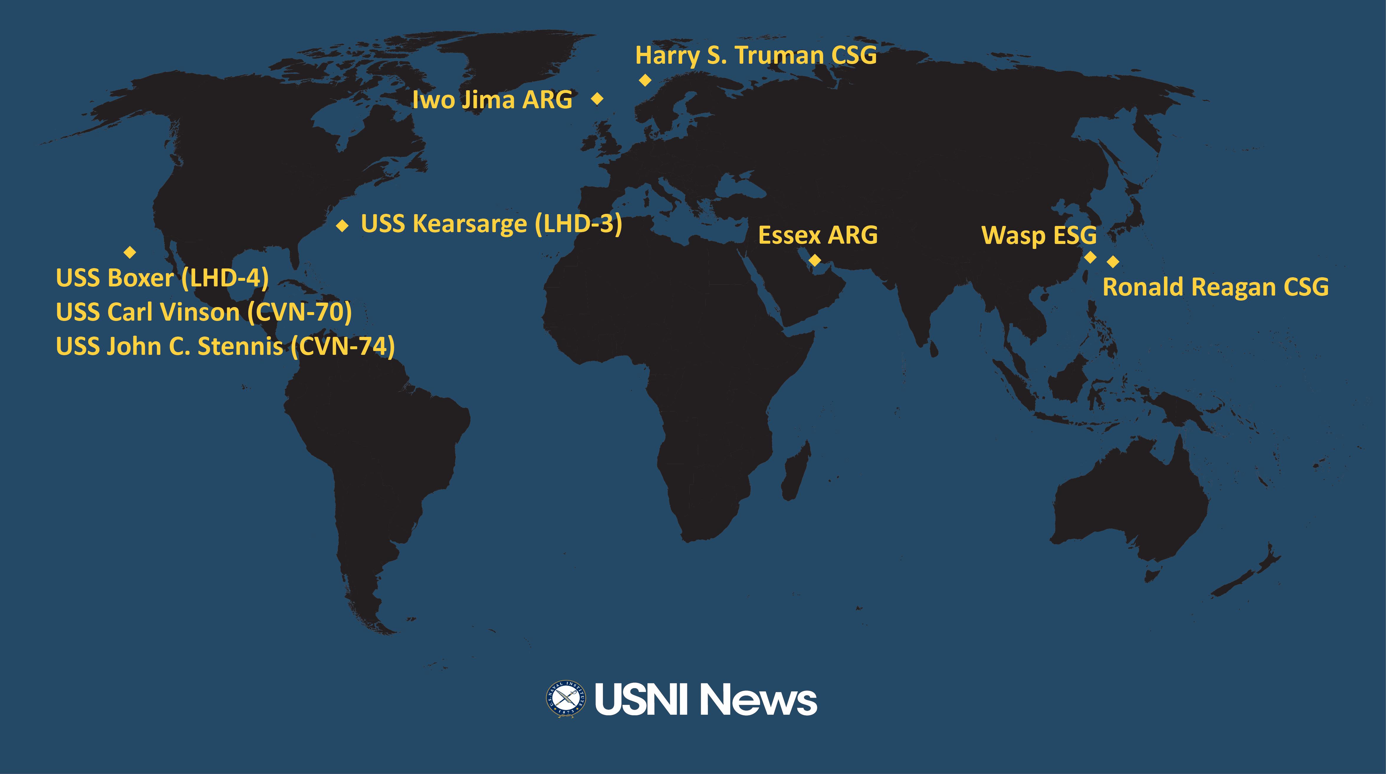 USNI News Fleet and Marine Tracker: Oct. 29, 2018