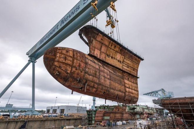 HII: Future Carrier John F. Kennedy Construction Costs Down, Ship Will Launch Next Year