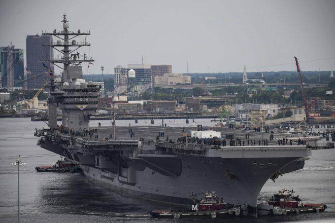 Carrier Eisenhower Leaves Repair Yard to Finish Maintenance at Naval Station Norfolk